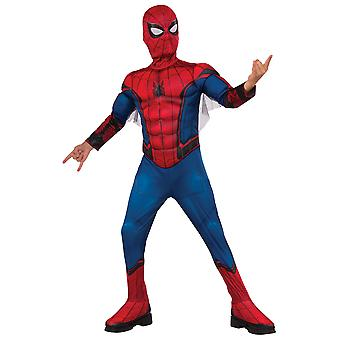 Spider-Man Spiderman Deluxe Muscle Chest Marvel Superhero Boys Costume