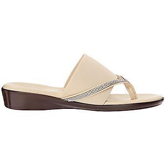 ITALIAN Shoemakers Womens Luxi Fabric Split Toe Casual Slide Sandals