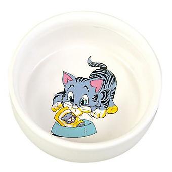 Trixie Gamelle Céramique Chats, Motifs, 0.3l Diamètre 11cm, bl.