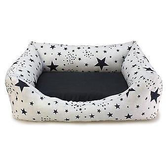 Arquivet Cama Cuadrada Estrellas Negras para Perros (koirat, vuode vaatteet, vuoteet)