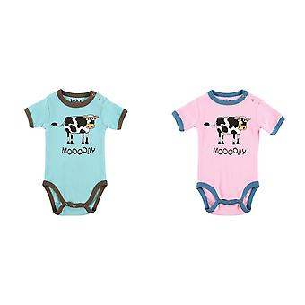 LazyOne Infants Moody Cow Creeper