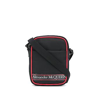Alexander Mcqueen 610679hv26b1092 Hombres's Black Fabric Messenger Bag