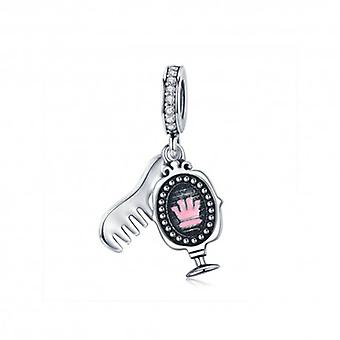 Sterling Silver Pendant Charm Dressing Mirror - 5615