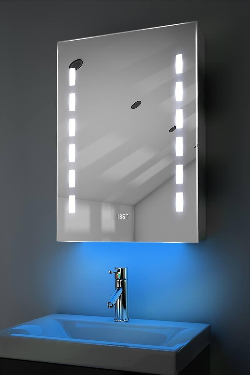 Clock Cabinet With RGB , Demister, Sensor & Shaver k391rgb