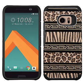 HTC 10 için ASMYNA Gelişmiş Zırh Kılıfı w/ Kılıf - Zebra Skin-Leopard Skin/Black