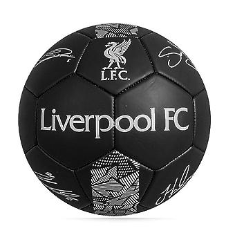 Liverpool FC Phantom Signature Team Merchandise Football Soccer Ball Black