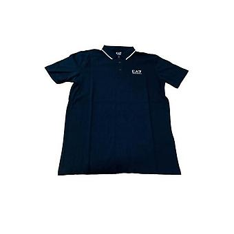 Heren Polo Shirt Armani Jeans 3GPF51 Navy blauw/L