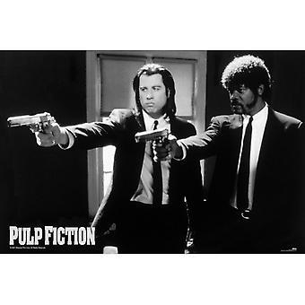 Pulp Fiction B & W Guns Maxi Juliste