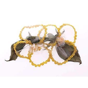 Dolce & Gabbana kukka läpinäkyvä käsintehty rinta neula--MOM1357573