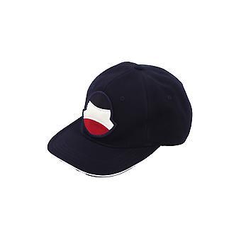 Moncler 3b70000v0088742 Men's Blue Cotton Hat