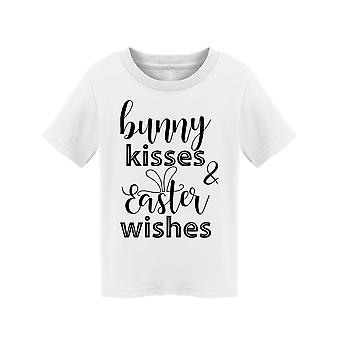 Bunny Kisses Easter Wishes, Text Tee Toddler's -Image by Shutterstock