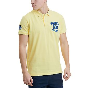Funky Buddha Men's Polo Shirt With Embroidered Logo