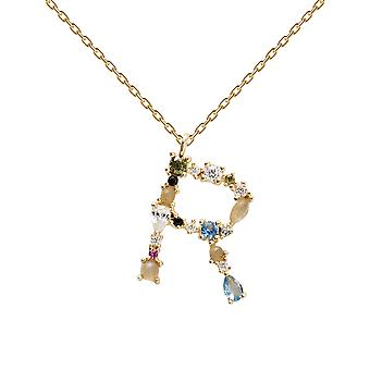 Pdpaola Women's Letter R Plated Necklace