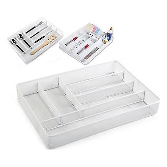 Organizzatore cassetto Confortime Metal White (40,5 x 28 x 5,5 cm)