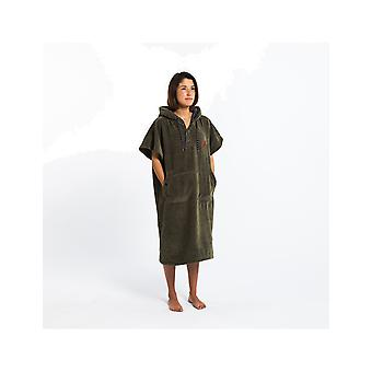 Slowtide The Digs Poncho - S/M Hooded Towel in  Green