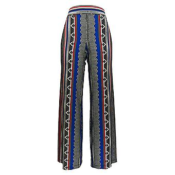 Attitudes by Renee Women's Pants Pull-On Printed Wide Black a290732