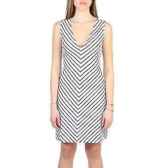 Woman elastane sleeveless dress v-neck dress aj60311