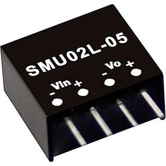 Mean Well SMU02M-05 DC/DC converter (module) 400 mA 2 W No. of outputs: 1 x