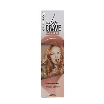Clairol Color Crave 45ml Washout Hair Makeup Shimmering Copper