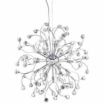 24 Light Ceiling Pendant Chrome With Crystals