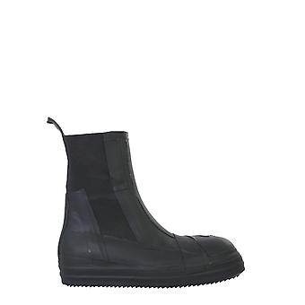 Rick Owens Ru20f3881lcrub99 Men's Black Rubber Ankle Boots