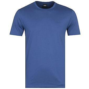 BOSS Leco Tonal Logo Ocean Blue Crew Neck T-Shirt