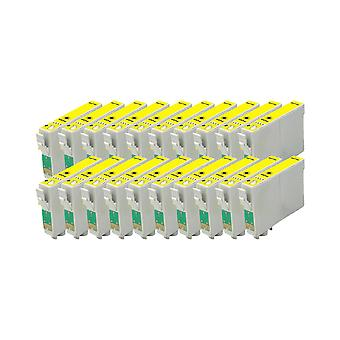 החלפת RudyTwos 20x עבור Epson TeddyBear יחידת דיו בצבע צהוב D68, D68 מהדורת צילום, D88, D88 מהדורת צילום, D88 Plus, DX3800, DX3850, DX3850 פלוס, DX4200, DX4250, DX4800, DX485