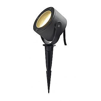 SLV Sitra Anthracite 360 Degree Spike Garden Spotlight, Gx53 IP44