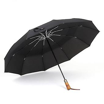 Automatic Umbrella Rain Double Layer Windproof Large Golf
