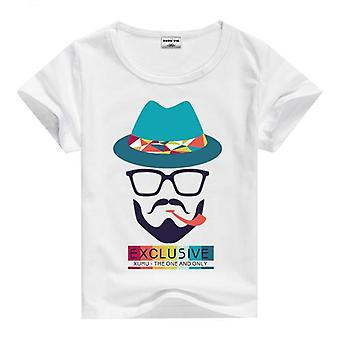 Summer Cotton Short Sleeve T-Shirt, Hat And Beard, Infant