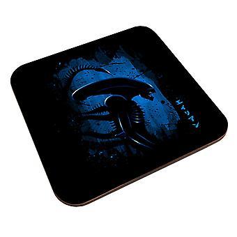 Alien Side Profil Blue Coaster