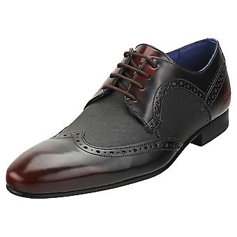 Ted Baker Ollivm Mens Brogue Shoes in Dark Red