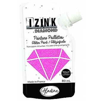 Aladine Izink Diamond Glitter Paint Hot Pink 80ml.