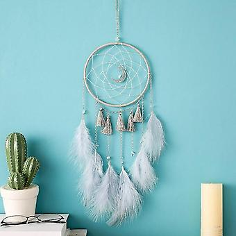 Beautiful Colored Feathers Dreamcatcher Home Decor Wall Hanging