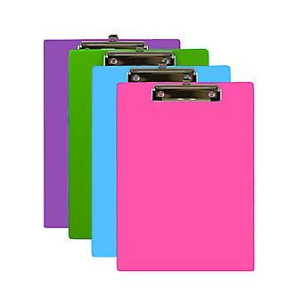 1829-48, BAZIC Bright Color PVC Standard Clipboard w/ Low Profile Clip Case of 48
