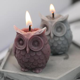 3d Owl Mold For Candle Making - Diy Handmade Resin Molds For Plaster Wax