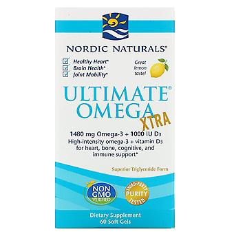 Nordic Naturals, Ultimate Omega Xtra, Lemon, 1,000 mg, 60 Soft Gels