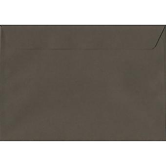 Grafite Peel/foca grigia C5/A5 buste colorate grigio. Carta certificata FSC di lusso 120gsm. 162 x 229 mm. portafoglio stile busta.