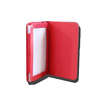 Leadertab Folio Case Leather Faux Red