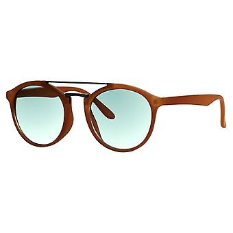 Sunglasses Unisex matt brown with green lens (ml-6600)