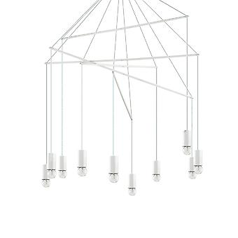 Light Cluster Ceiling Pendant White