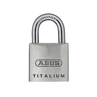 ABUS 64TI/20mm TITALIUM Padlock Carded Twin Pack ABU64TI20TC