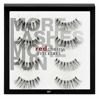 Red Cherry False Wimpers - #43 Stevi Multipack 4 Paren - Cruelty Free Lashes