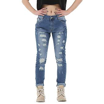 Faded Slim Ripped Distressed Frayed Boyfriend Jeans