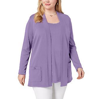 Anne Klein | Plus Size 2-Pc. Sweater Set