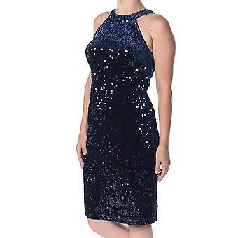 Nightway | Velvet Sequined Sheath Dress