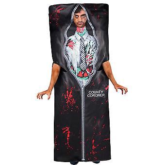 Amscan ciało w worku dla dorosłych standard M / L Fancy Dress Halloween Kostium Martwy Koroner