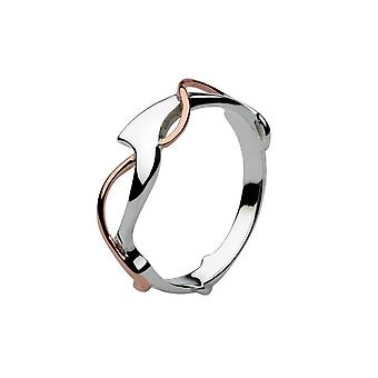 Dew Sterling Silver Genevieve With Rose Gold Plate Ring 20W3RG015