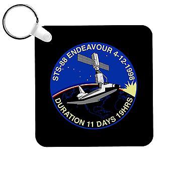 NASA STS 88 Endeavour Badge Keyring