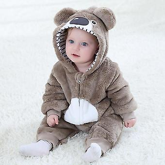 Söt Husky Dog Kigurumi Baby Kids Cartoon Animal Cosplay Kostym Varm Mjuk Flanell Onesie Pyjamas Body Suits